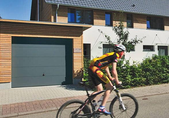 Up and over garage door image